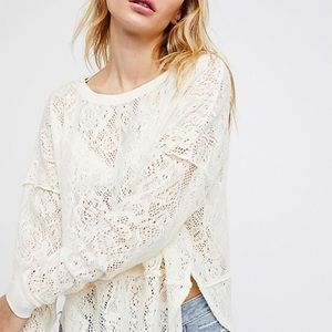 NWT Free PeopleNot Cold in this Floral Knit Top